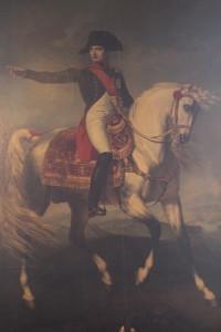 Napoleone sul campo di battaglia di Wagram
