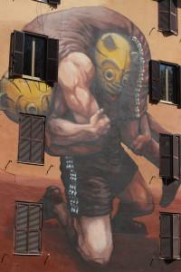 Il peso della storia, Jaz (street art)