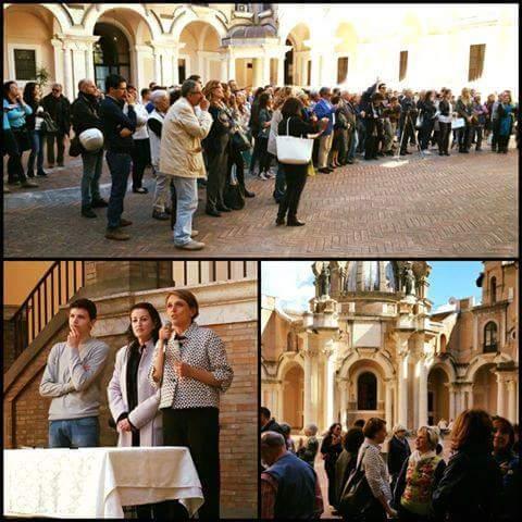 inaugurazione mostra al complesso del Buon Pastore