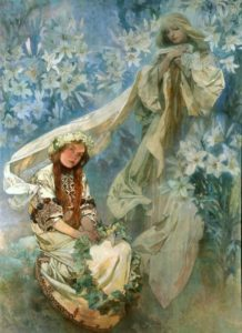 Madonna dei Gigli, Alphonse Mucha