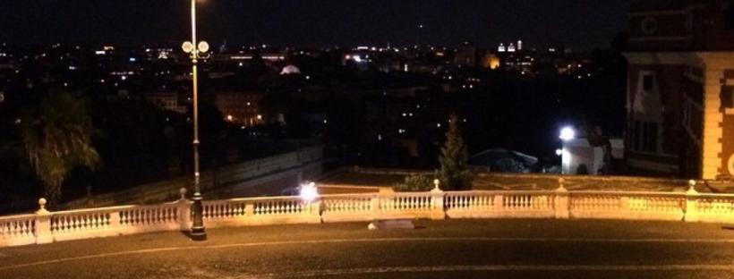 La fantastica vista dal Fontanone del Gianicolo