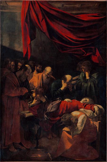 Caravaggio a Roma, la morte della Vergine