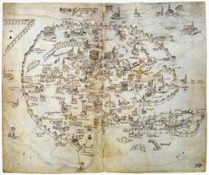 Mirabilia Urbis Romae, una cartina