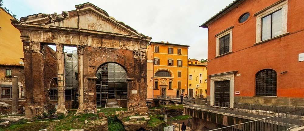 Portico d'Ottavia al Ghetto di Roma