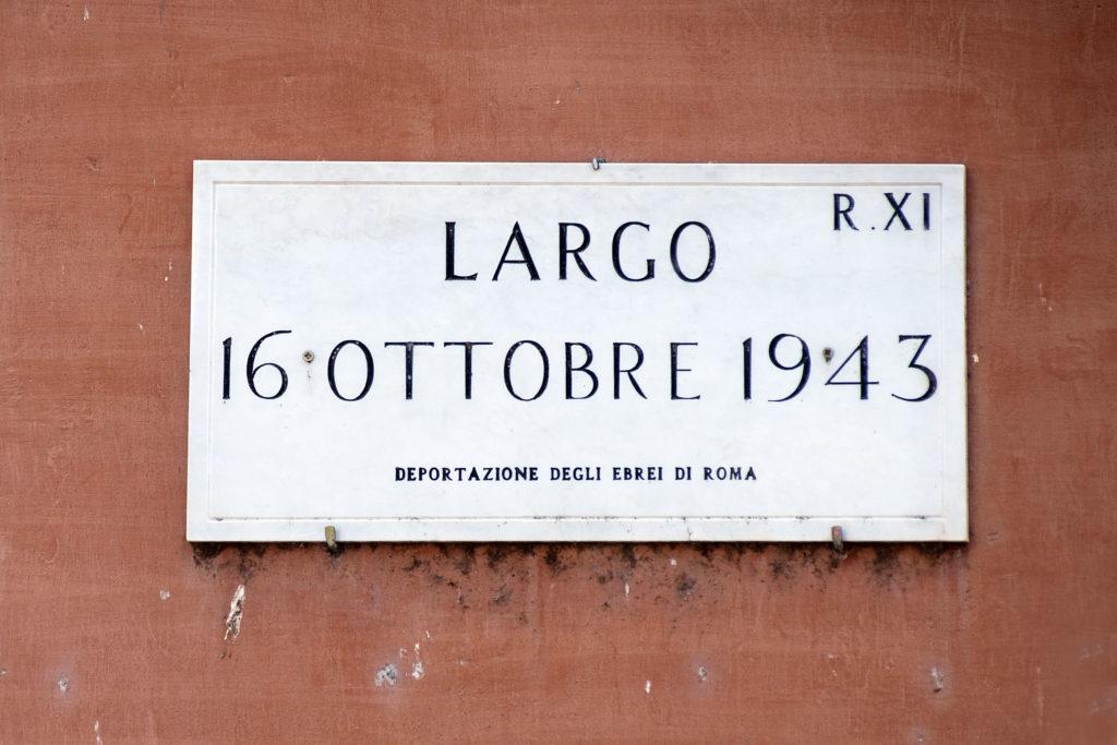 Largo 16 ottobre 1943, Ghetto di Roma