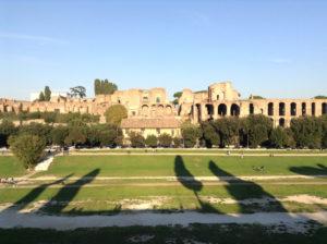 L'area del Circo Massimo in tutta la sua vastità