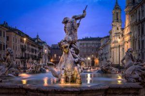 Fontana del Tritone a Piazza Navona