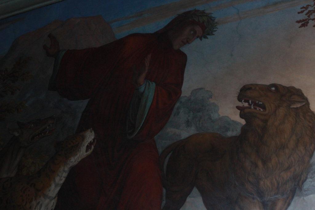 Dante e le tre fiere, Villa Giustiani Casino Massimo