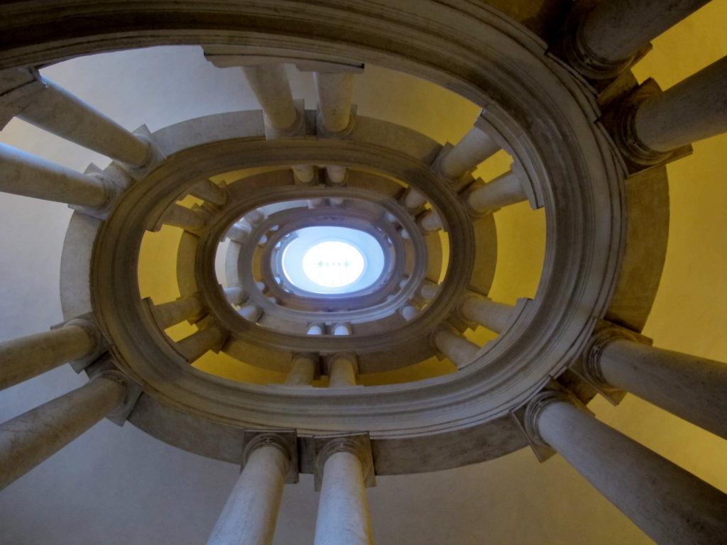 scalone del Borromini in Palazzo Barberini