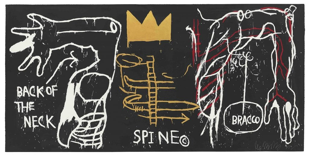 Basquiat Roma back of the neck