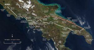 via appia mappa, strade romane