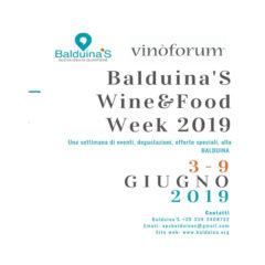 Balduina'S Wine & Food Week 2019