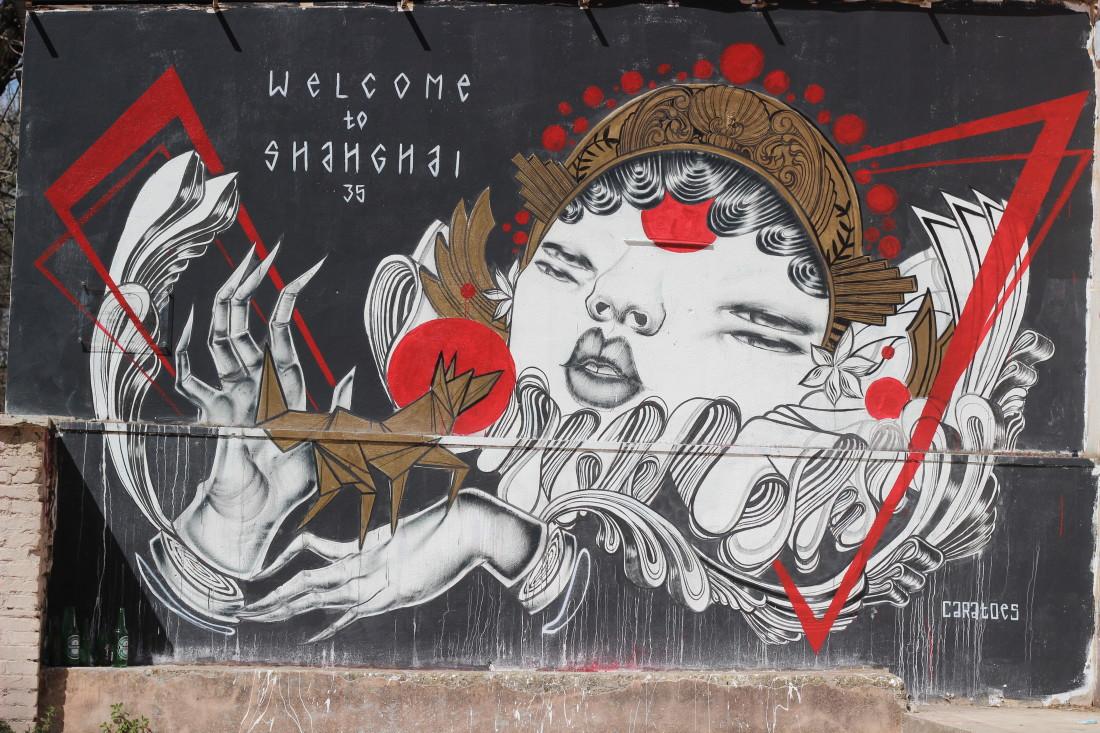 Street art per Tor Marancia: Big City Life